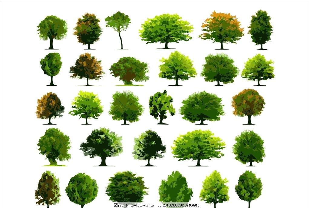 绿色树木 绿色 树木 树 树叶 柏树 松树 矢量树 cd cdr coreldraw
