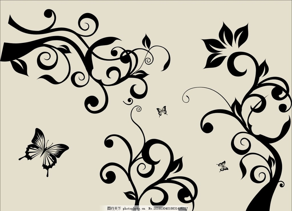硅藻泥矢量图 对角花 花矢量图