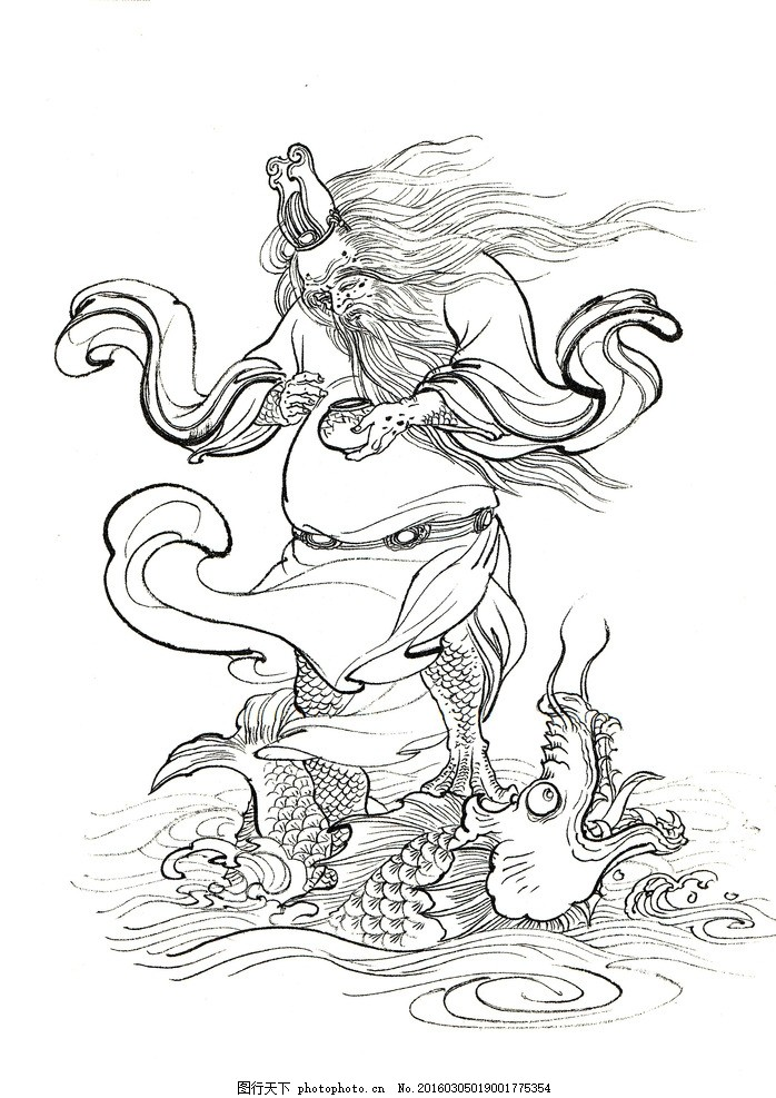 神话传说 白描人物 妖怪 西游记白描【李云中】 设计 文化艺术 绘画书