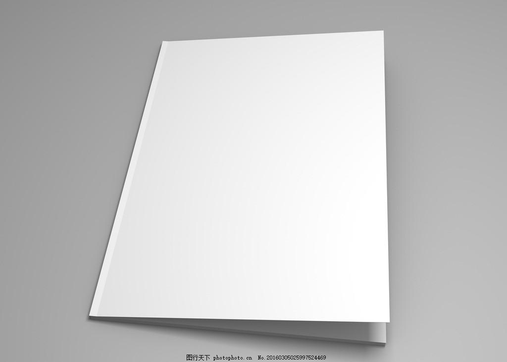 白色书籍封面模板 空白 打开 书籍 模板 翻书 书 画册 白色 折页 设计