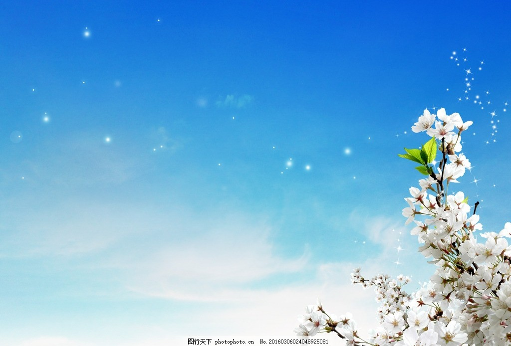 高清春天桃花背景