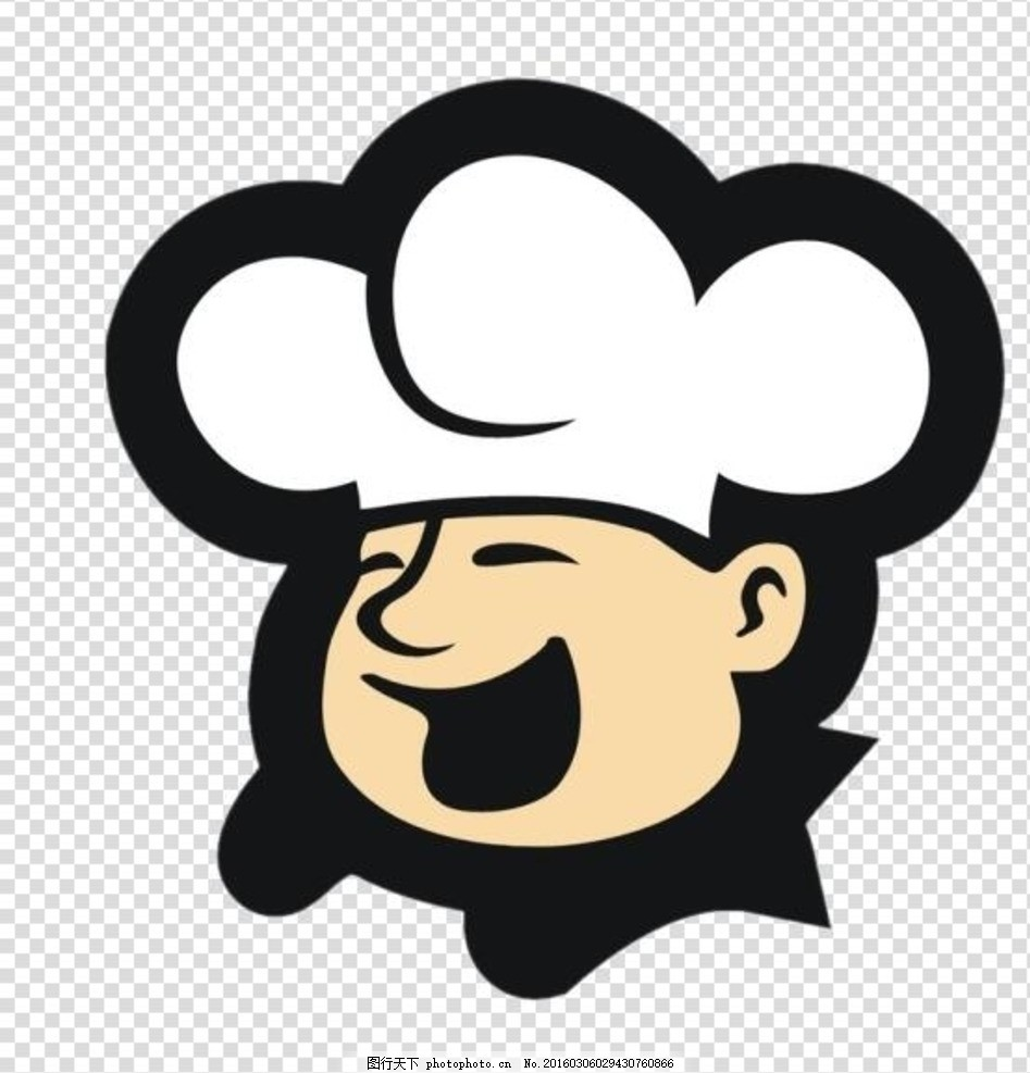 卡通厨师头像
