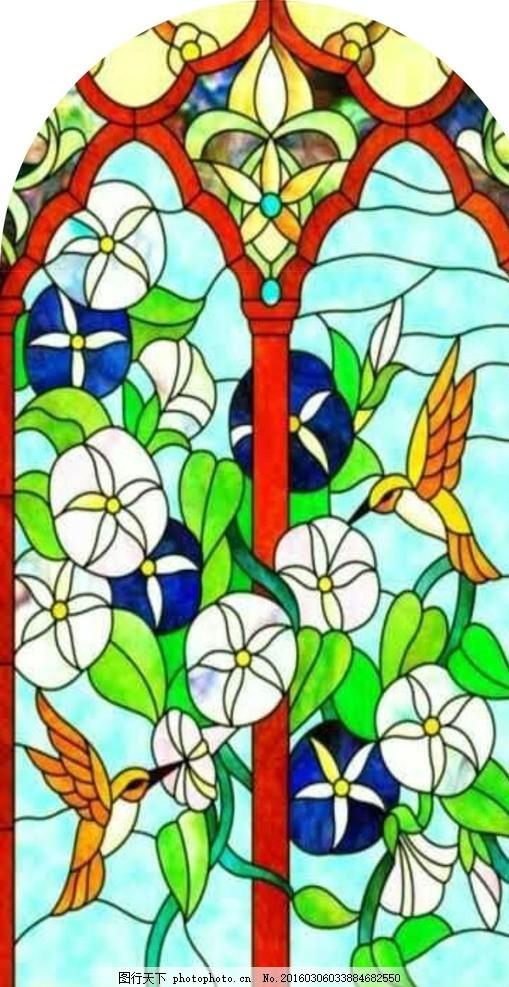 欧式花 玻璃 装饰 雕刻 磨砂 刻图 矢量图 欧式花纹 图片素材