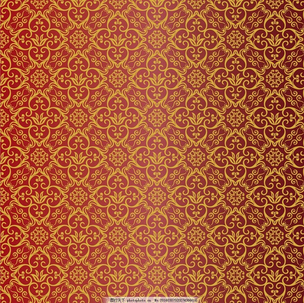 中国风格复古花纹背景墙纸 复古 古典 花纹 背景 桌布 墙纸 设计 底纹