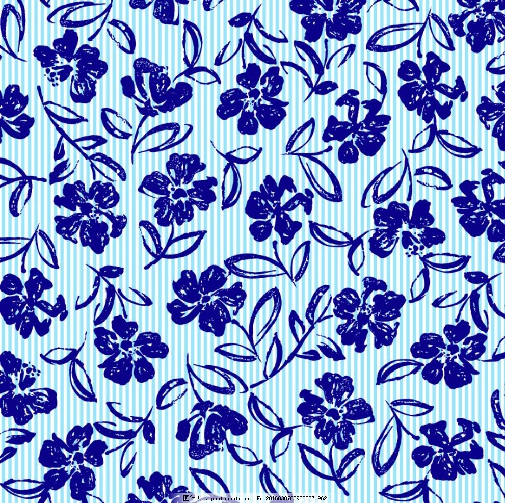 花型油画 手绘 数码花型 手绘花卉 手绘花纹 花型图案 兰花 白玫瑰 玫