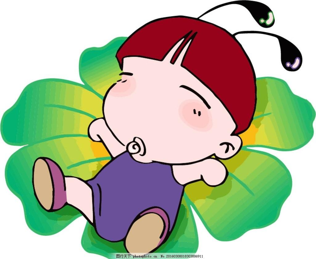 蚁宝宝 吃奶 可爱 睡觉 咬奶嘴 动漫动画