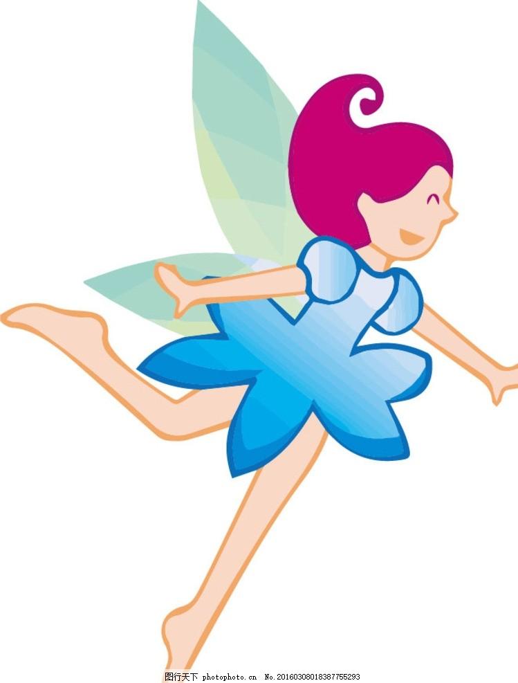 花仙子 花精灵 仙子 美女 可爱 漂亮 设计 动漫动画 动漫人物 ai