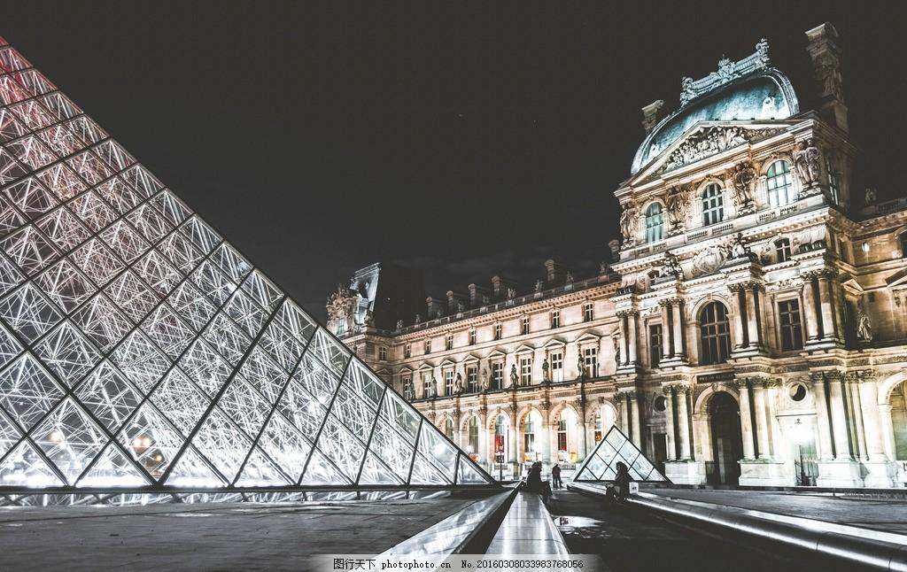 法国巴黎 卢浮宫 旅游 宫殿 水晶宫 著名建筑 摄影 国外旅游