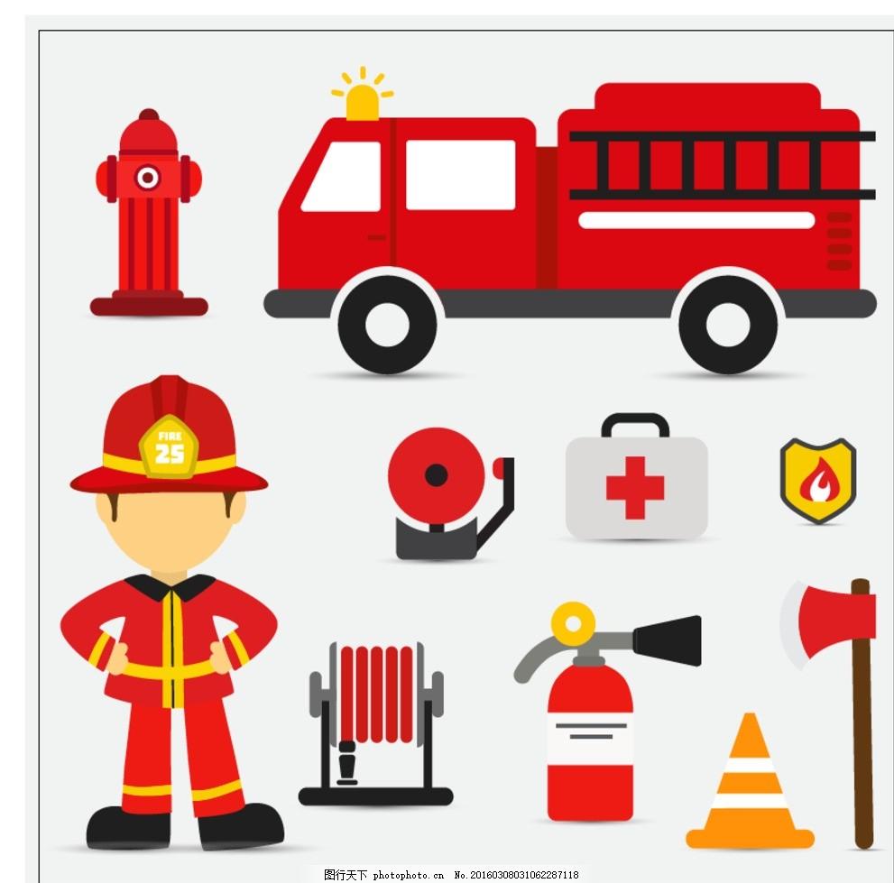 消防图标 干预 向量 集合 汽车 医疗 图形 安全 标志 火焰