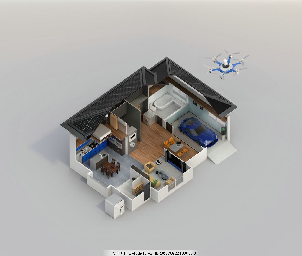 房子透视图