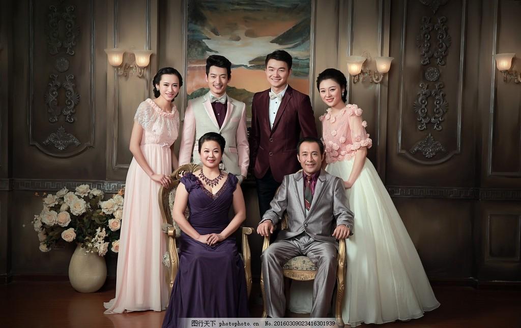 全家福影楼样片 韩版 最新 婚纱样片 摄影 人物摄影