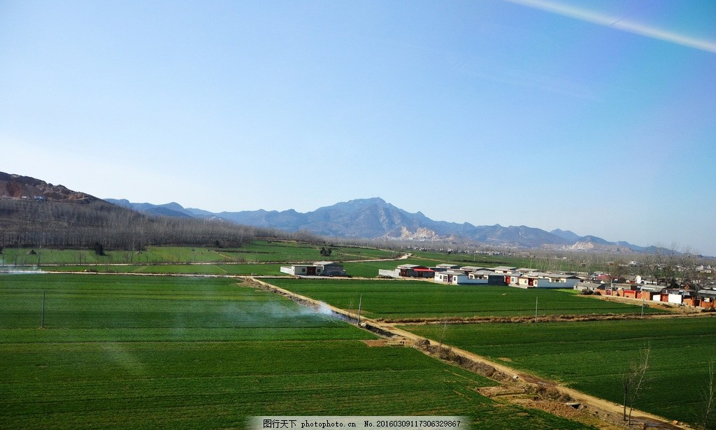 乡村景色 农村风景 家乡风貌 平原地区 乡下小路 中原 湖北到北京