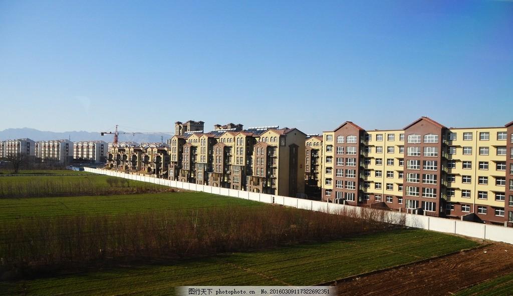 楼房,乡村景色 农村风景 家乡风貌 平原地区 乡下小路