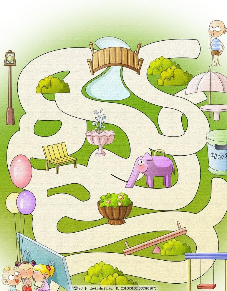 漫画迷宫 儿童 漫画 迷宫 智力插画 幼儿漫画 设计 动漫动画 动漫人物
