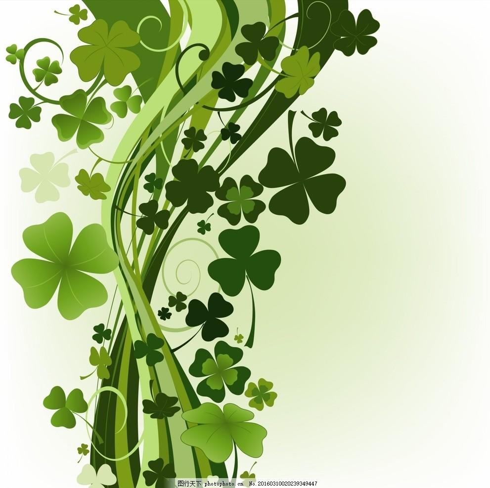 矢量唯美绿色植物背景底纹