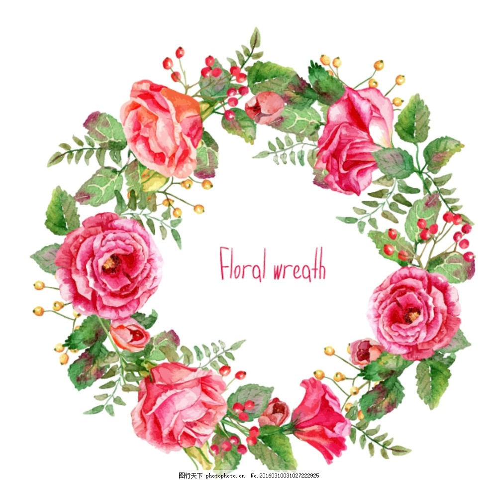 花环 鲜花 浪漫 欧式 温馨 甜蜜 清新 花 环 主题 设计 广告设计 其他