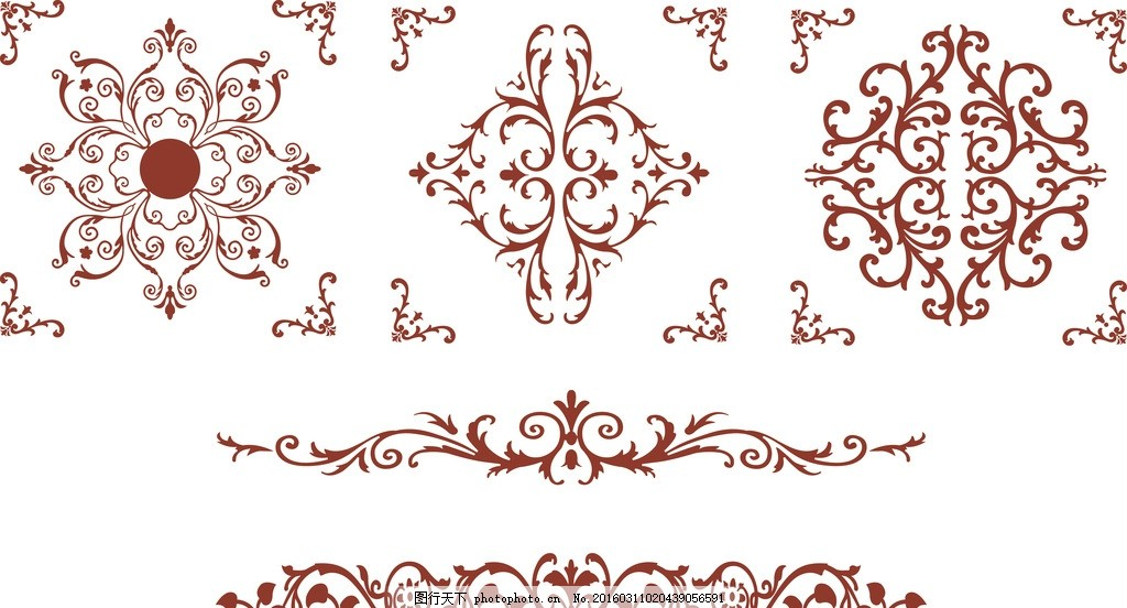 边框矢量花纹 边框 笔画 矢量 画框 边花 欧式花纹 笔画欧式元素 设计