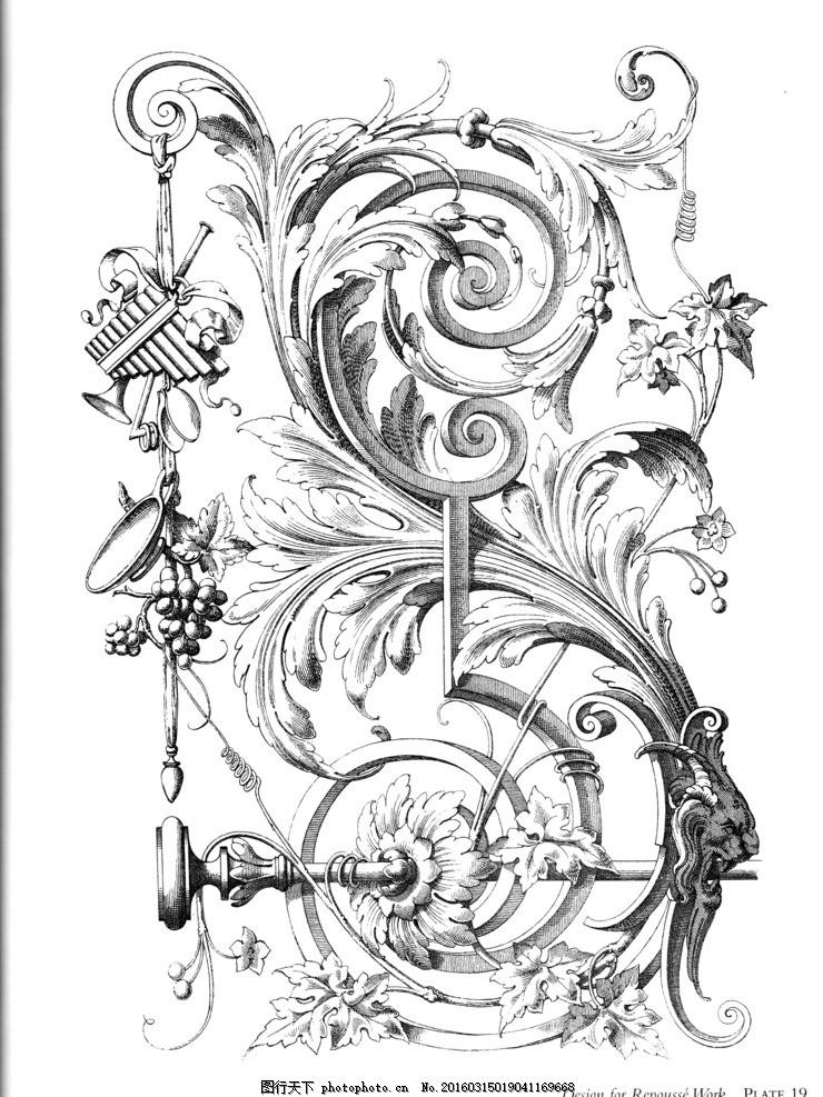 欧式卷草花纹奇幻图案 大马士革 火腿纹 印花 墙纸 印染墙纸 底纹素材