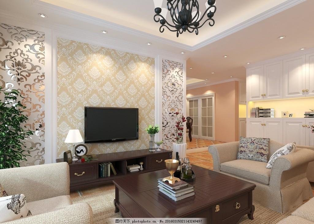 北欧风格客厅装修效果图 北欧 风格      装修        设计 3d设计 3d