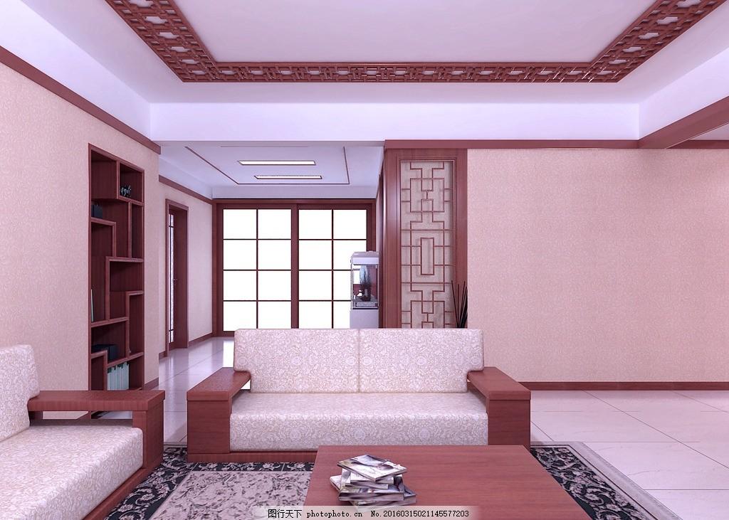 中式装修效果图 中式      装修 电视墙        3d效果图 设计 3d设计