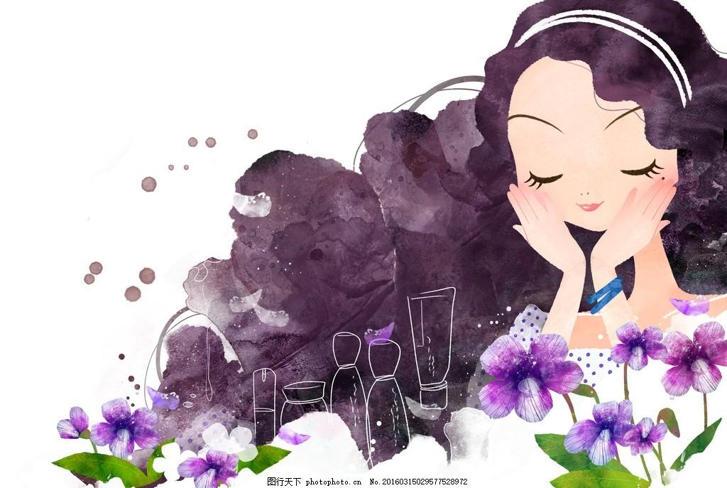 时尚美女白领化妆