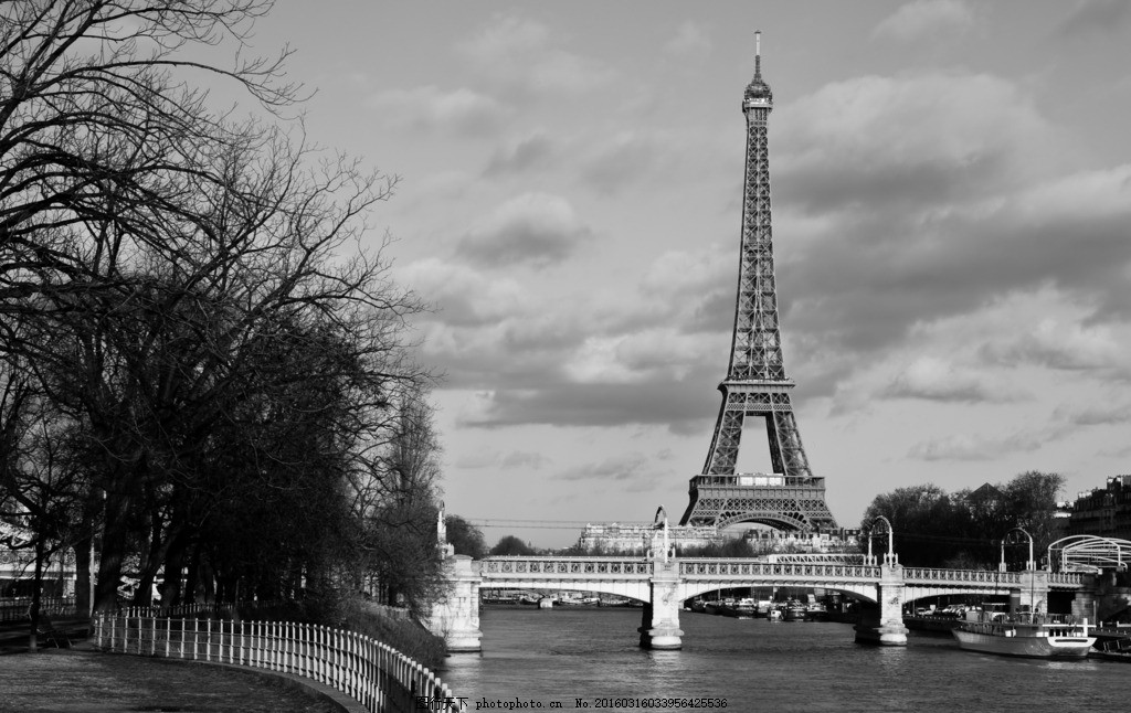 黑白巴黎 黑白法国 黑白照 黑白 法国 巴黎 铁塔 建筑物 城市 古老