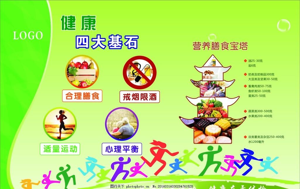 健康的四大基石 营养膳食宝塔图片
