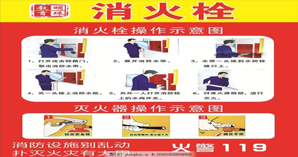 消防栓 消防 牌 灭火器 步骤    设计 广告设计 室外广告设计 cdr