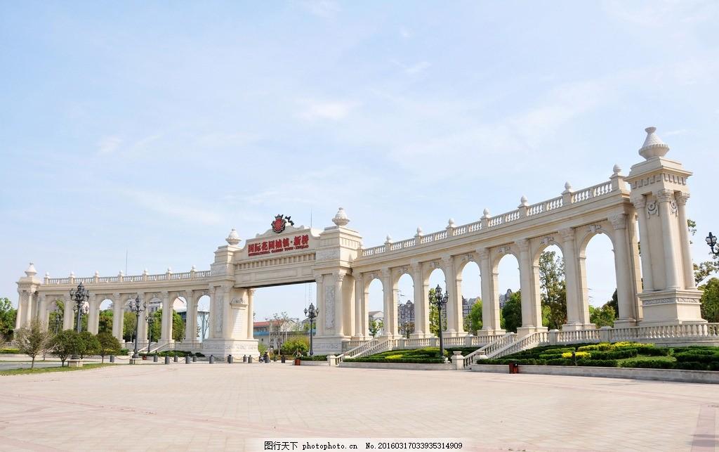 民乐广场 新桥 建筑 罗马柱 欧式 摄影 国内旅游