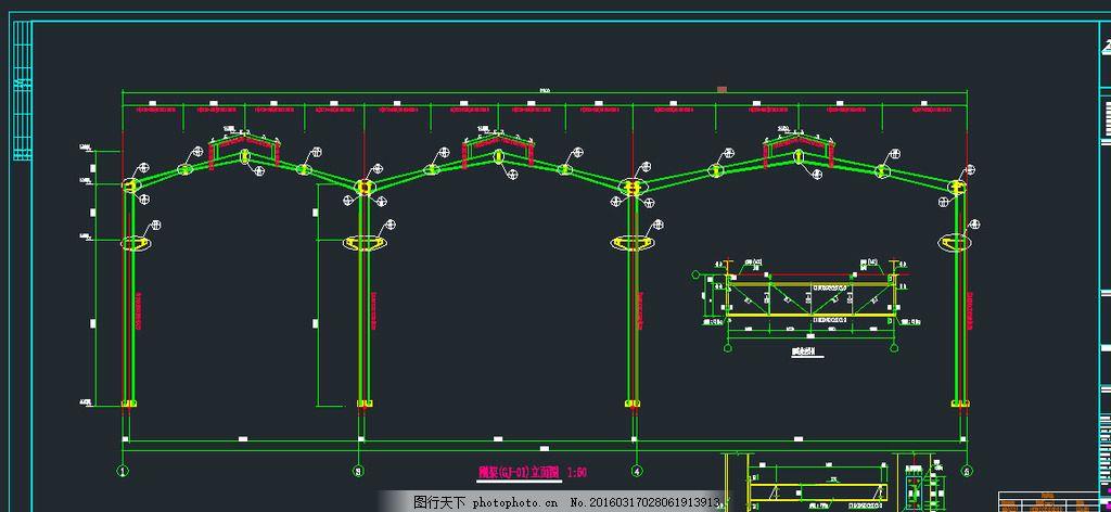 钢结构仓储平面图