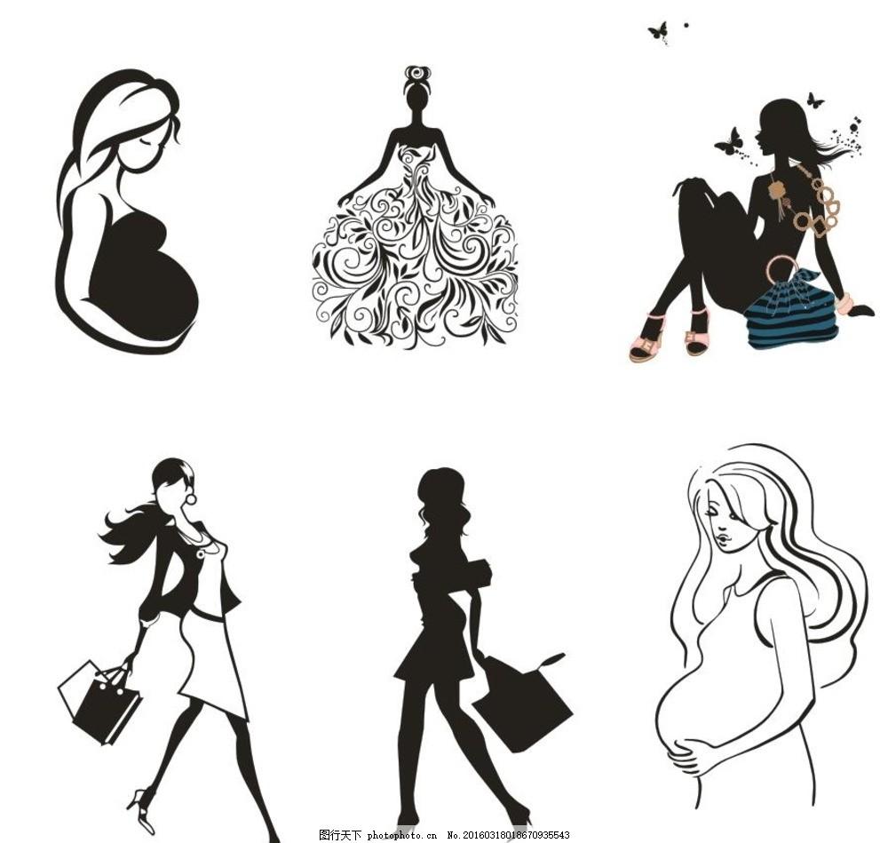 关于孕妇的简笔画