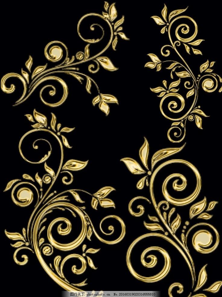 欧式金色古典花纹 模版下载 欧式花纹 复古花纹 金色花纹 金黄色花纹