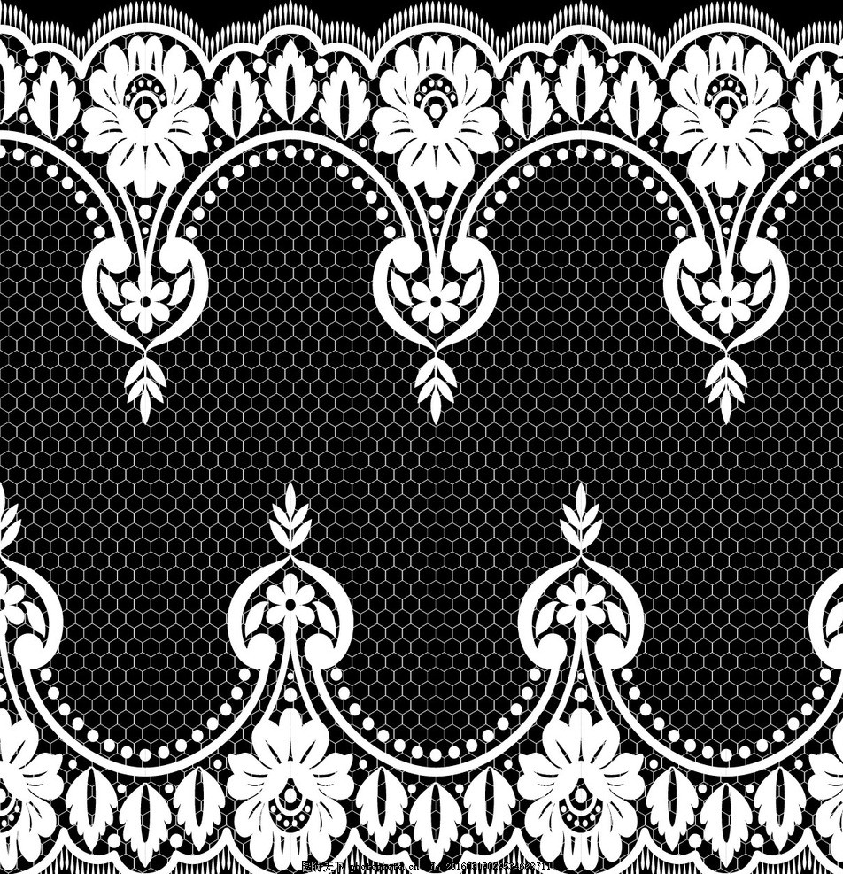 蕾丝花纹 白色蕾丝花边 蕾丝 花边 边框 花纹 欧式花纹 花纹背景 时尚