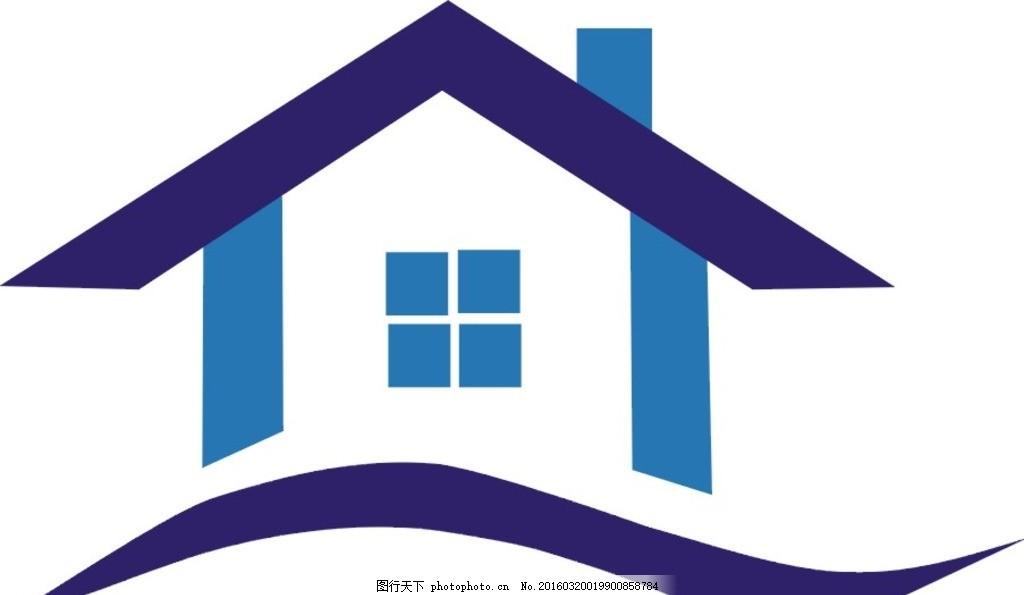 建筑logo 房子 弧线 房子 三角 正方形 建筑logo 设计 标志图标 企业