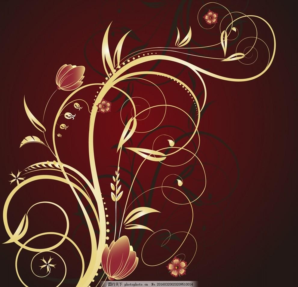 矢量时尚欧式花纹背景底纹 图案 花纹 纹理 画框 元素 欧式花纹 音乐