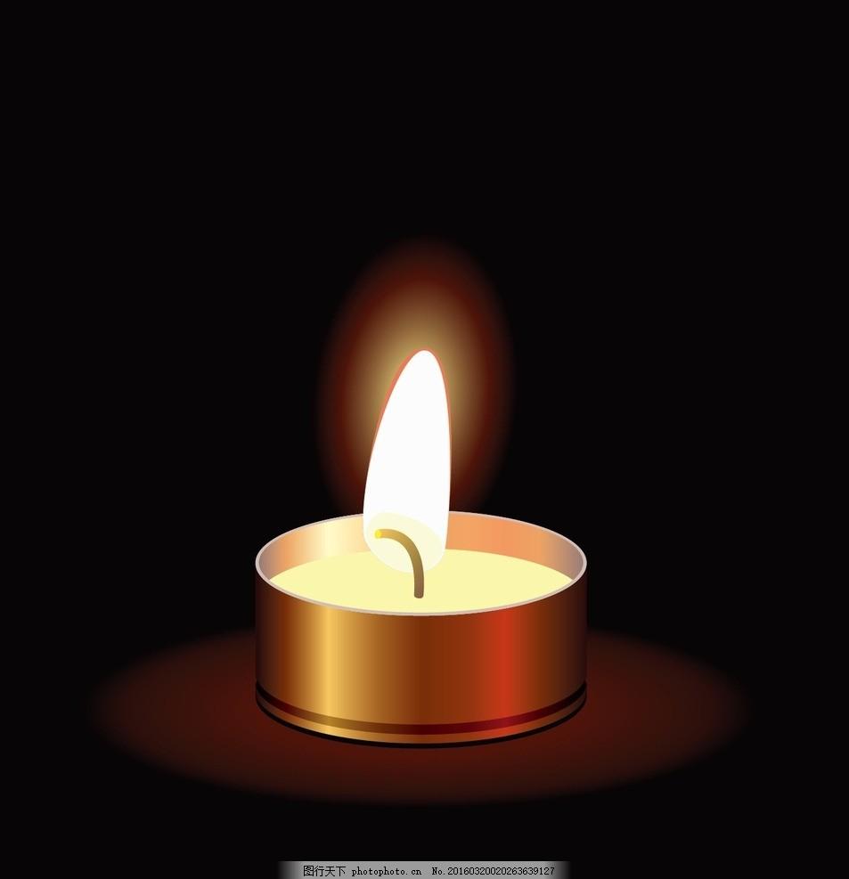 蜡烛彩色简笔画花边
