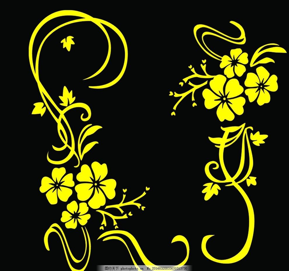 长条牵牛花花边素材展示