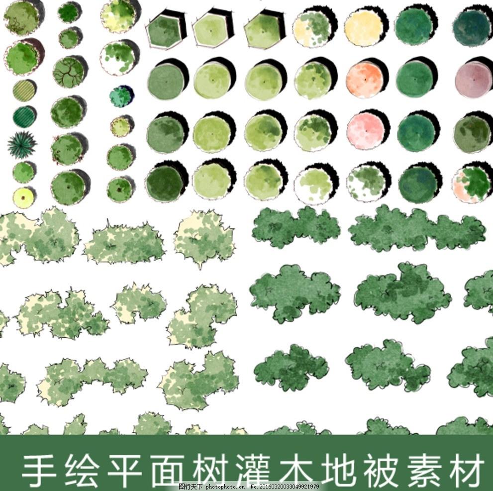 植物图例 园 林 景观 植物 图例 设计 psd分层素材 其他 72dpi psd