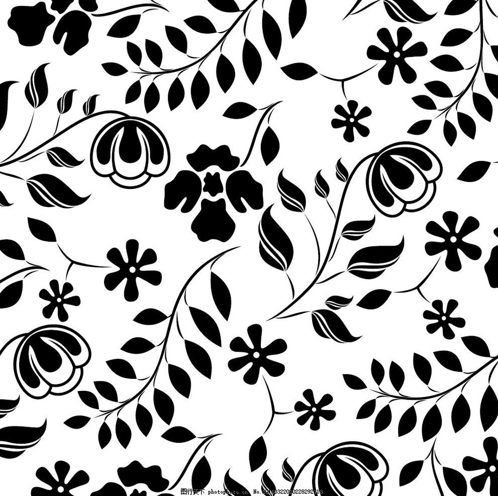 炫酷复杂黑白的图案