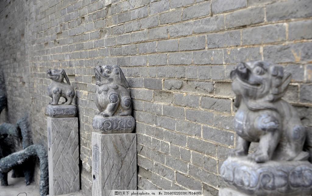 吉祥兽 天空 草木 摄影 建筑园林 麒麟 貔貅 拴马桩 建筑风景雕塑高清