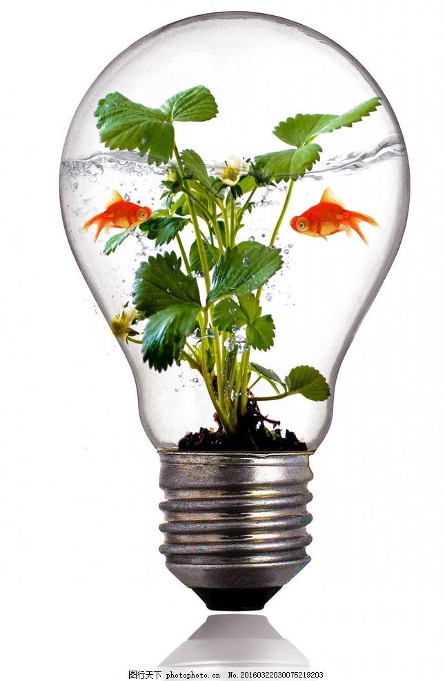 创意环保合成图 灯泡 金鱼 水 环保 合成 设计 广告设计 海报设计 300