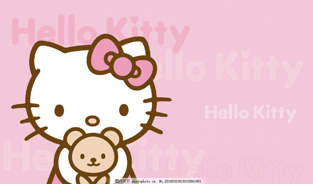 hello kitty可爱 可爱 墙纸 粉色 卡通 背景 设计 动漫动画 动漫人物