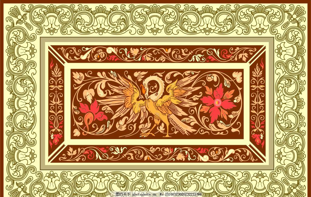 欧式花纹 背景墙 屏风 隔断 白描 线描