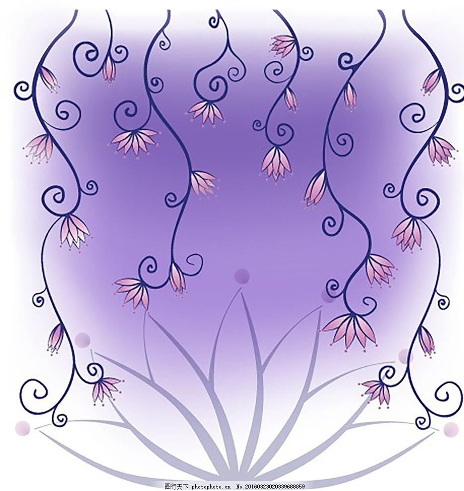 紫色底纹 简约 时尚 清新 背景 唯美 设计 底纹边框 花边花纹 eps