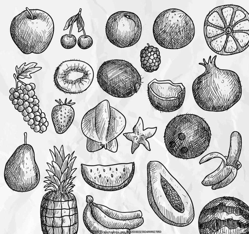 手绘水果 设计