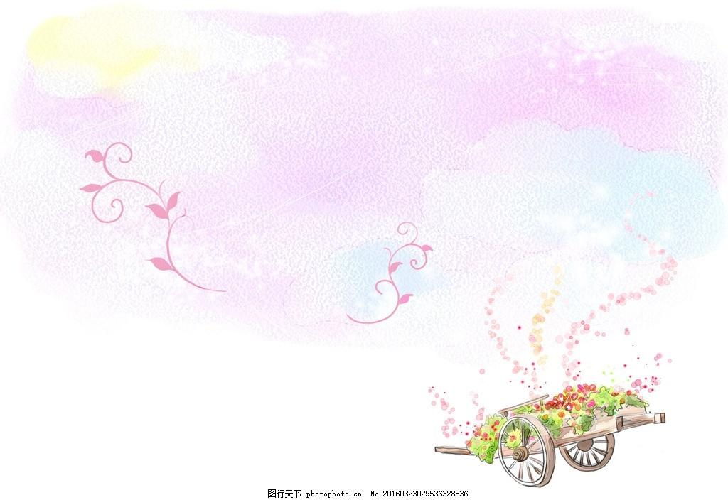 水彩背景 淡紫色背景 花卉 渐变水彩 渐变背景
