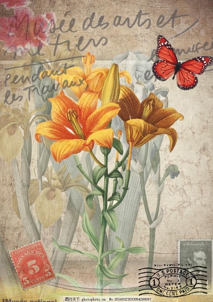 花卉装饰画 花型 欧式挂画 欧式装饰画 三联画 卧室 屏风 移门