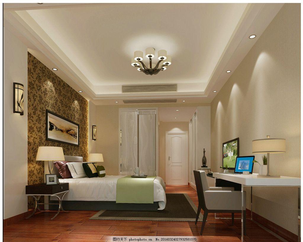 主卧 卧室 主人房 效果图 家装 现代 温馨 简约 壁纸 艺术涂料