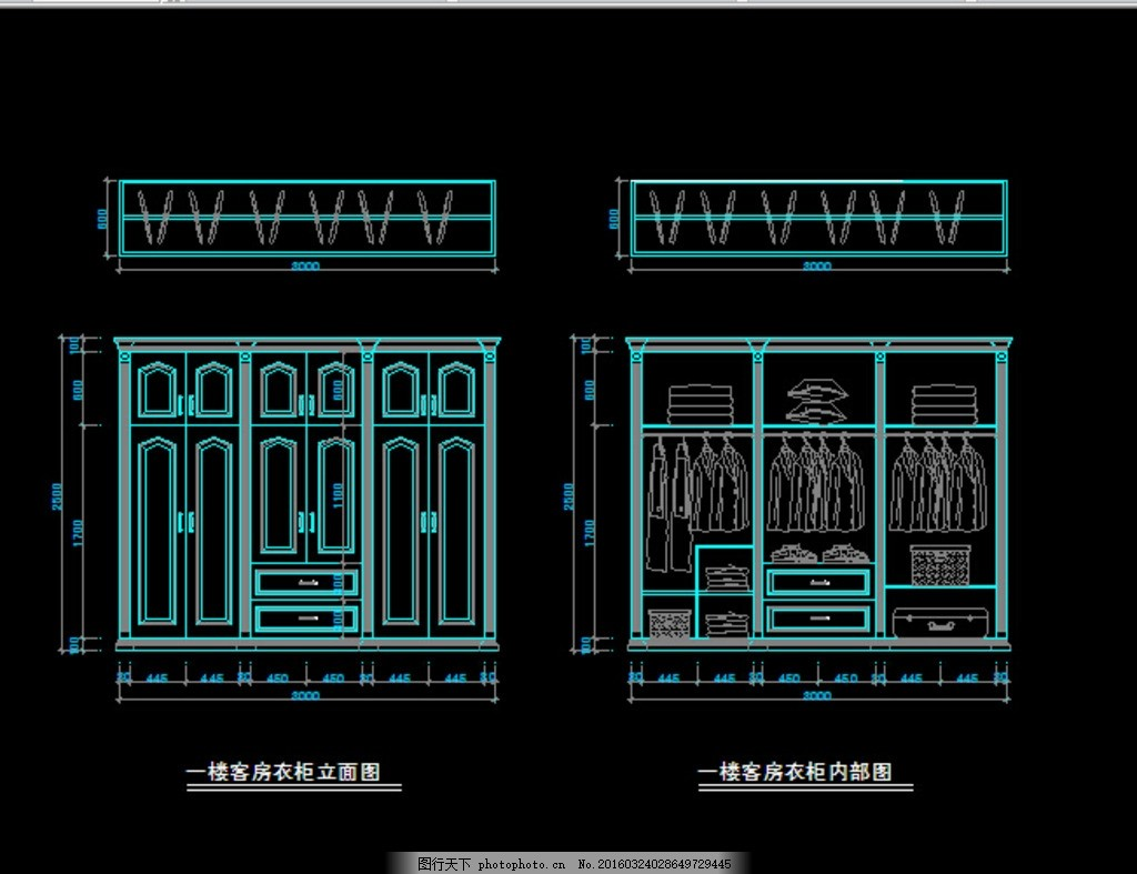 定制衣柜 定制 衣柜 衣帽间 原木 家居 cad cad设计图纸 设计 环境