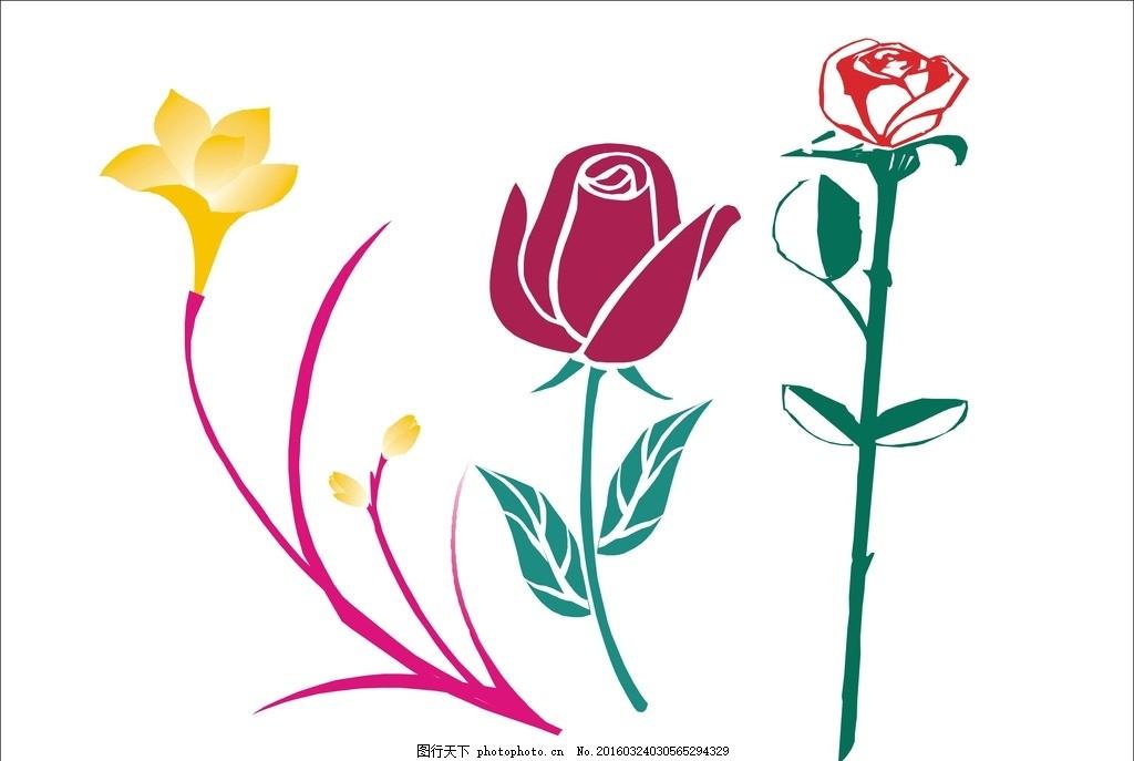 卡通花 花 花儿 矢量花朵 花素材 花朵素材 花朵 多彩花 花瓣 花瓣